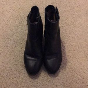 Madden Girl faux leather black booties